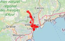 Cagnes-sur-mer, Villeneuve loubet et Vence.