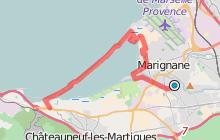 GR2013 : De Marignane à Châteauneuf les Martigues