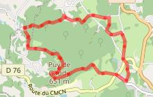 Circuit de randonnée pédestre n° 15 Le Puy de Gaudy