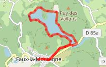 Circuit 16 : Le lac de Faux - 4,5 km, 1h45