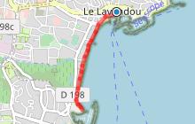 Promenade du bord de plage : Lavandou - Pointe du Gouron