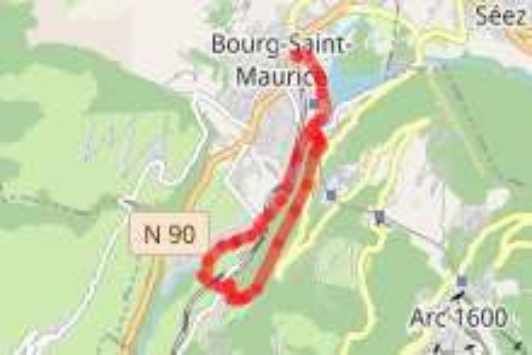 Bourg Saint Maurice vers La Chapelle de Notre Dame de Tout Pouvoir