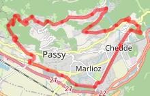 Tour de Passy au Plateau par Chedde et Bay