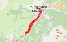 Bourg Saint Maurice vers La Ballastière