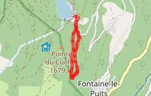 Sentier des Belvédères (ou des Ravières) depuis la Coche