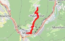 Sentier Moûtiers - Hautecour