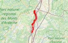 Via Rhôna, étape 15 : de Le Pouzin / Cruas à Chateauneuf du Rhône / Viviers