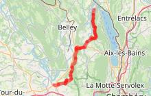 GR 65 - Chemin de St Jacques de Compostelle : le chemin en Savoie jusqu'à St Genix sur Guiers