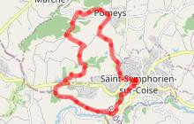 Sentier des paysages des Monts du Lyonnais - Boucle est à VTT