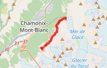 Grand Balcon Nord : Plan de l'Aiguille du Midi - Montenvers
