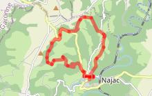 Mazerolles, vastes horizons, circuit n°1 autour de Najac