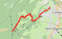 Itinéraire Ski de Randonnée : La Crève-Coeur