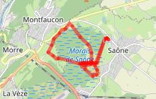 Doubs Rando' - Espace Naturel Sensible - Le marais de Saône - Saône
