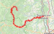 Circuit cyclo descendant La descente du Doux