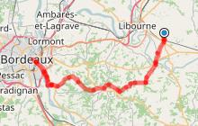 Saint-Emilion - Bordeaux par la piste Roger Lapébie