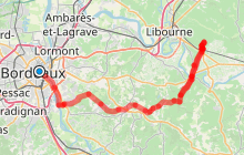 Bordeaux - Saint-Emilion par la piste Roger Lapébie