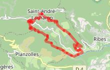 Randonnée La Boucle des Moulins - St André Lachamp