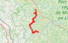 Variante Eymoutiers - Chamberet - Treignac, un chemin de Saint-Jacques, voie de Rocamadour en Limousin et Haute-Quercy