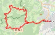 Circuit voiture d'Annonay vers Villevocance