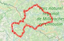 Parcours n°6, Espace Cyclosport La Petite Montagne Limousine