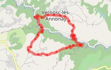 Circuit vélo autour de Vernosc