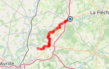 """Véloroute v47 """"La Vallée du Loir à Vélo"""" de Durtal à Villevêque"""