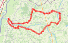 Circuit l'Ain à vélo n° 1 - Etranges Sarrasines
