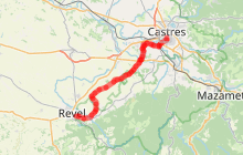 Veloroute Castres - Revel
