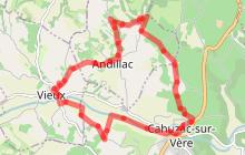 Circuit n°12 VTT - Chemin de la vère au Saint-Hussou