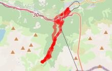 Itinéraire VTT AE Modane Valfréjus Lavoir