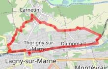 Bord de Marne, Aqueduc de la Dhuis-Carnetin à vélo