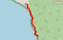 Le Sentier Marin entre l'ilôt du Crocodile et la plage de Jovat