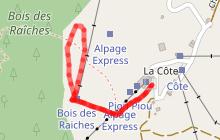 Itinéraire piéton - raquettes 34 - Plateau du Rosay