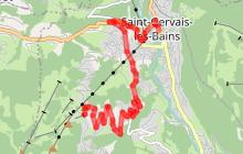 Montée remarquable de Saint-Gervais au Bettex