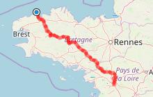 V1 - Roscoff >>> Nantes [389,4km]