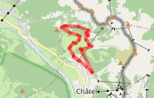 Itinéraire raquettes - Boucle du Petit-Châtel