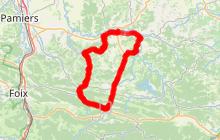 Cyclotourisme en Pyrénées Cathares 58kms
