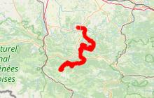 Circuit cyclosportif  des 4M de Mirepoix à Montségur 88kms.